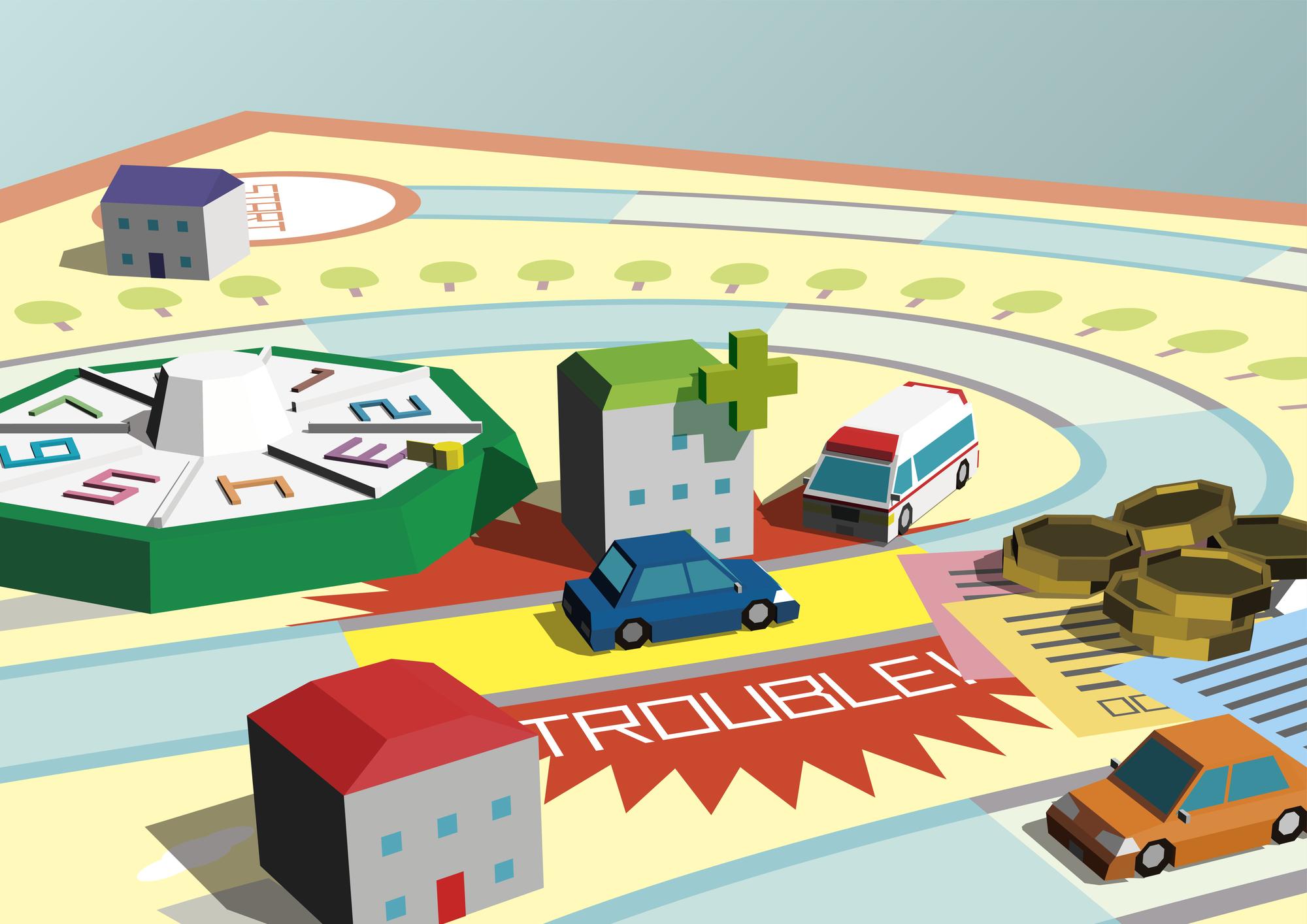 人生ゲーム交通事故